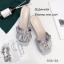 รองเท้าเปิดส้นซาติน (สีเทา) thumbnail 2