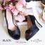 รองเท้าคัทชูซาตินเปิดเท้า (สีดำ) thumbnail 2