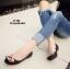 รองเท้าคัทชูส้นแบน Style Gucci (สีน้ำตาลอ่อน) thumbnail 7