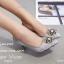 รองเท้าคัทชูลูกไม้ Style Roger Vivier (สีเทา) thumbnail 2