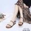 รองเท้าแต่งมุกสไตล์ลำลอง (สีน้ำตาล) thumbnail 4