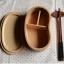 (พรีออเดอร์) กล่องข้าวไม้ กล่องข้าวญีปุ่น เบนโตะ กล่องห่ออาหารกลางวัน ไม้แท้ ลายสวย ปลอดภัย ทรงเม็ดถั่ว ชั่นเดียว สีบีช thumbnail 2