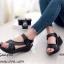 รองเท้าลำลองเย็บลาย (สีดำ) thumbnail 1