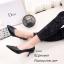 รองเท้าคัทชูหุ้มส้นทรงวี (สีดำ) thumbnail 2