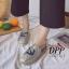 รองเท้าคัทชูสวมกากเพชรลายสมอ (สีเงิน) thumbnail 3
