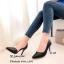 รองเท้าคัทชูหนังสาน (สีดำ) thumbnail 3