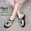 รองเท้าแตะผีเสื้อแต่งเพชร (สีดำ) thumbnail 3