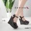 รองเท้าส้นเตารีดหนังแก้ว Style YSL (สีดำ) thumbnail 1