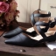 พร้อมส่ง : รองเท้าหัวแหลมหนังนิ่ม (สีครีม) thumbnail 3