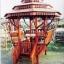 ศาลาทรงไทย ทรงแปดเหลี่ยม หลังคาสามชั้น มีพนักพิงและม้านั่งสามด้าน ไม้เนื้อแข็งรวม ศาลาไม้สำหรับนั่งเล่นในสวน thumbnail 1