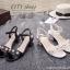 รองเท้าส้นตันแต่งมุกสไตล์ Gucci (สีดำ) thumbnail 8