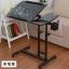Pre-order โต๊ะทำงาน โต๊ะวางคอมพิวเตอร์ โต๊ะวางแล็ปท้อป ขาคู่ แบบมัลติฟังก์ชั่น ปรับระดับได มีล้อเลื่อน แผ่นท้อปเจาะช่องสอดสายไฟ พิมพ์ลาย สีดำ thumbnail 1
