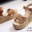 รองเท้าส้นเตารีดส้นหวาย (สีเทา) thumbnail 9