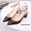 รองเท้าคัทชูส้นตันหนังเงาสไตล์ Valentino (สีดำ) thumbnail 3