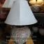 โคมไฟตั้งโต๊ะ ทำจากแจกันดินเผาด่านเกวียน ลายช้าง สีโคลนโทนน้ำตาล-แดง thumbnail 1