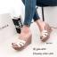 รองเท้าส้นเตารีดหนังเงา Style YSL (สีครีม) thumbnail 1