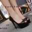 รองเท้าคัทชูส้นสูงทรงเปิดนิ้ว (สีดำ) thumbnail 4