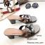 รองเท้าส้นตันเปิดส้น Style YSL (สีครีม) thumbnail 7