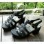 พร้อมส่ง : รองเท้าStyle nanda Shoesหน้าสาน (สีดำ) thumbnail 1