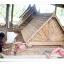 ศาลาทรงไทย ทรงล้อเกวียน หลังคาสองชั้น มีพนักพิงและม้านั่งสามด้าน ไม้เนื้อแข็งรวม ศาลาไม้สำหรับนั่งเล่นในสวน thumbnail 2