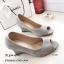 รองเท้าคัทชูส้นเตารีดกำมะหยี่ (สีครีม) thumbnail 5