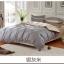 (Pre-order) ชุดผ้าปูที่นอน ปลอกหมอน ปลอกผ้าห่ม ผ้าคลุมเตียง ผ้าฝ้าย สีพื้น สีเงิน thumbnail 1