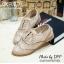 พร้อมส่ง : รองเท้า Oxford ผ้าลูกไม้ (สีน้ำตาล) thumbnail 1