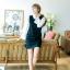 ชุดเดรสสั้น เสื้อสีดำ แขนยาว รหัสสินค้า 8-8940-ดำ thumbnail 8