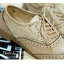 พร้อมส่ง : รองเท้า Oxford ผ้าลูกไม้ (สีน้ำตาล) thumbnail 2