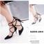 รองเท้าส้นสูงพันขาสไตล์ YSL (สีครีม) thumbnail 8