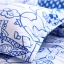 (Pre-order) ชุดผ้าปูที่นอน ปลอกหมอน ปลอกผ้าห่ม ผ้าคลุมเตียง ผ้าโพลีเอสเตอร์พิมพ์ลายการ์ตูนแฟนซีลายเส้นสีฟ้าขาว thumbnail 2