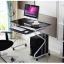 Pre-order โต๊ะทำงาน โต๊ะวางแล็ปท้อป โต๊ะคอมพิวเตอร์พีซี แผ่นท้อปกระจก สีดำ thumbnail 2
