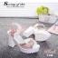 รองเท้าแพลตฟอร์มแต่งเพชร (สีขาว) thumbnail 10