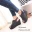 รองเท้าส้นเตารีดหนังกลับสไตล์ลำลอง (สีดำ) thumbnail 6