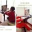 Pre-order โต๊ะทำงาน โต๊ะวางแล็ปท้อป โต๊ะพรีเซนต์งาน ปรับระดับ ปรับองศา มีช่องสอดสายไฟ มีล้อเลื่อน สีชมพู thumbnail 8