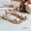 พร้อมส่ง : รองเท้าส้นเพชรสไตล์ Zara (สีครีม) thumbnail 1