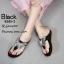 รองเท้าแตะผีเสื้อแต่งเพชร (สีดำ) thumbnail 2