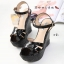 รองเท้าส้นเตารีดหนังแก้ว Style YSL (สีดำ) thumbnail 4