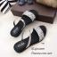 รองเท้าแตะสวมแต่งคริสตัล (สีดำ) thumbnail 5