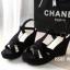 พร้อมส่ง : รองเท้าส้นเตารีดเกาหลี (สีดำ) thumbnail 2