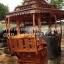 ศาลาทรงไทย ทรงแปดเหลี่ยม หลังคาสามชั้น มีพนักพิงและม้านั่งสามด้าน ไม้เนื้อแข็งรวม ศาลาไม้สำหรับนั่งเล่นในสวน thumbnail 2
