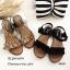 รองเท้าแตะลำลองแต่งระบายเมจิกเทป (สีดำ) thumbnail 5