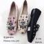 รองเท้าคัทชูทรงสวมปักลายผึ้ง Style Gucci (สีครีม) thumbnail 18