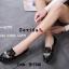 รองเท้าคัทชูทรงสวมปักลายผึ้ง Style Gucci (สีครีม) thumbnail 6