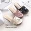 รองเท้าส้นเตารีดหนังเงา Style YSL (สีครีม) thumbnail 7