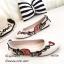 รองเท้าส้นแบนลายดอก Style Gucci (สีดำ) thumbnail 5