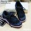 พร้อมส่ง : รองเท้าผ้าใบ MIUMIU Jeweled Satin Lace-Up Sneaker (สีกรม) thumbnail 1