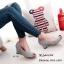 รองเท้าคัทชูส้นเตารีดกำมะหยี่ (สีครีม) thumbnail 6