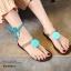 รองเท้าแตะซิลิโคนพันขา (สีฟ้า) thumbnail 2