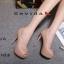 รองเท้าคัทชูส้นสูงทรงเปิดนิ้ว (สีดำ) thumbnail 8